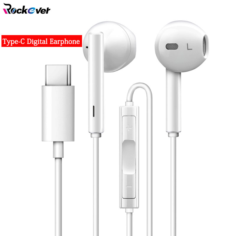 Digital Histen Type C Earphone In-Ear USB 3.1 Type-C Nature Hifi Earbud Mic/Remote Control For Huawei Mate 10 Pro/P20/P20 Pro