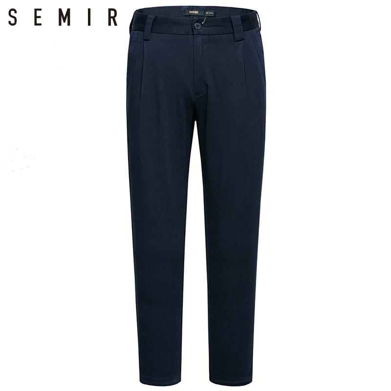 SEMIR pants mens black trousers male fashion Trousers business pants Male Leisure Trousers elastic pants Casual Classic Trouse