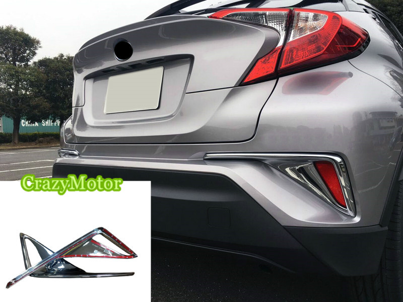 For Toyota C-HR 2016 2017 2018  2pcs/set ABS chrome rear fog light frame cover trim car styling