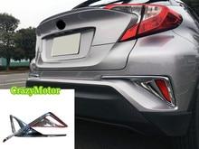 Для Toyota C-HR 2016 2017 2 шт./компл. ABS chrome задних противотуманных фар рамка обрезать стайлинга автомобилей