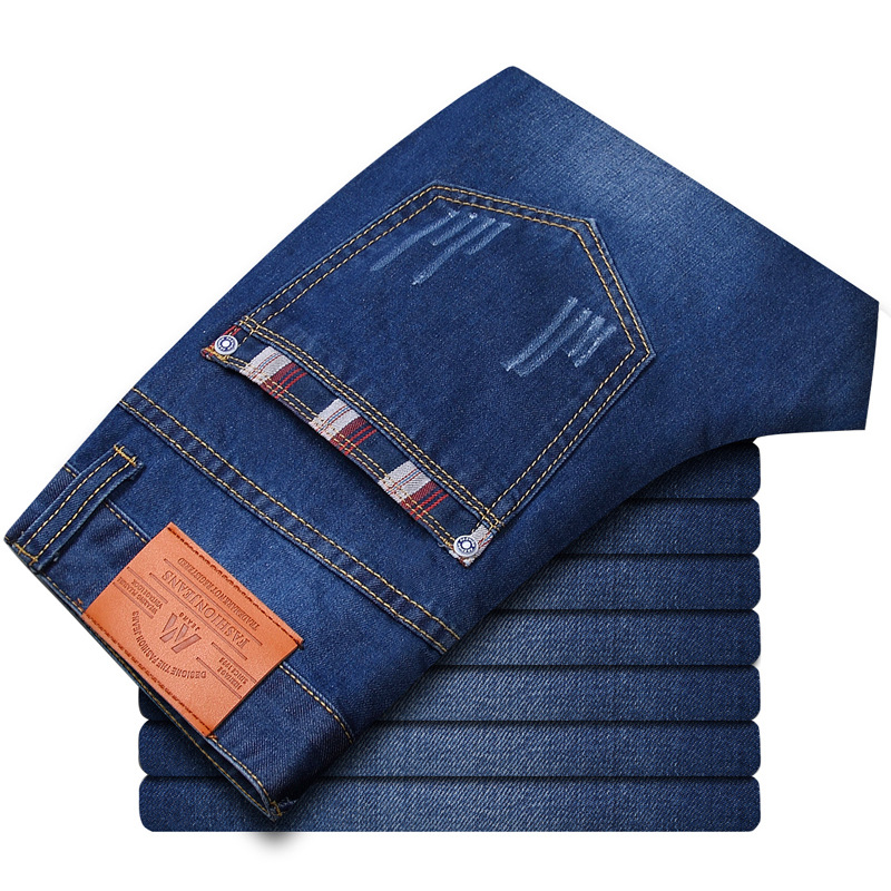 Classic men's fashion brand jeans straight men jeans denim trousers trend for men big size good quality factory big wholesale free shipping factory direct sales good quality new spring summer 2016 korean version brand men straight jeans cheap wholesale