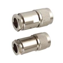 2 шт. N Тип Мужской зажим RG8 LMR400 RG165 RG213 7D-FB RF коаксиальный разъем
