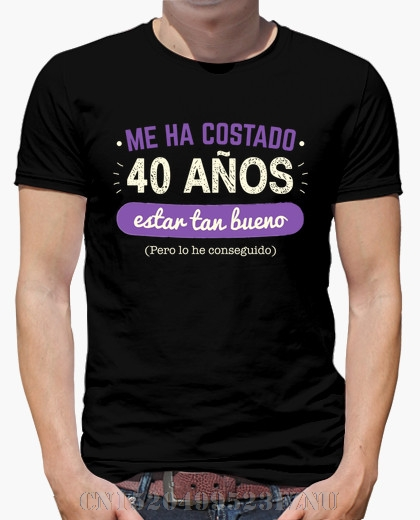 Spring summer black friday mens t shirt 40 Years To Be So Good Short Letter Cotton Hipster Tees