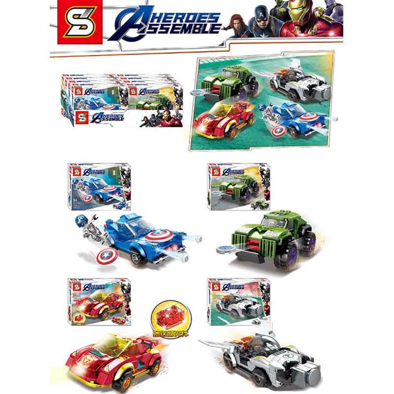 2019 Avengers 4 marvel avengers endgame Spider Man Iron Hulk  figures Building Blocks bricksB425