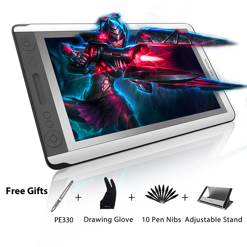 HUION KAMVAS GT-156HD V2 15.6 graphique dessin moniteur plein écran HD numérique stylo tablette affichage moniteur avec 8192 niveaux