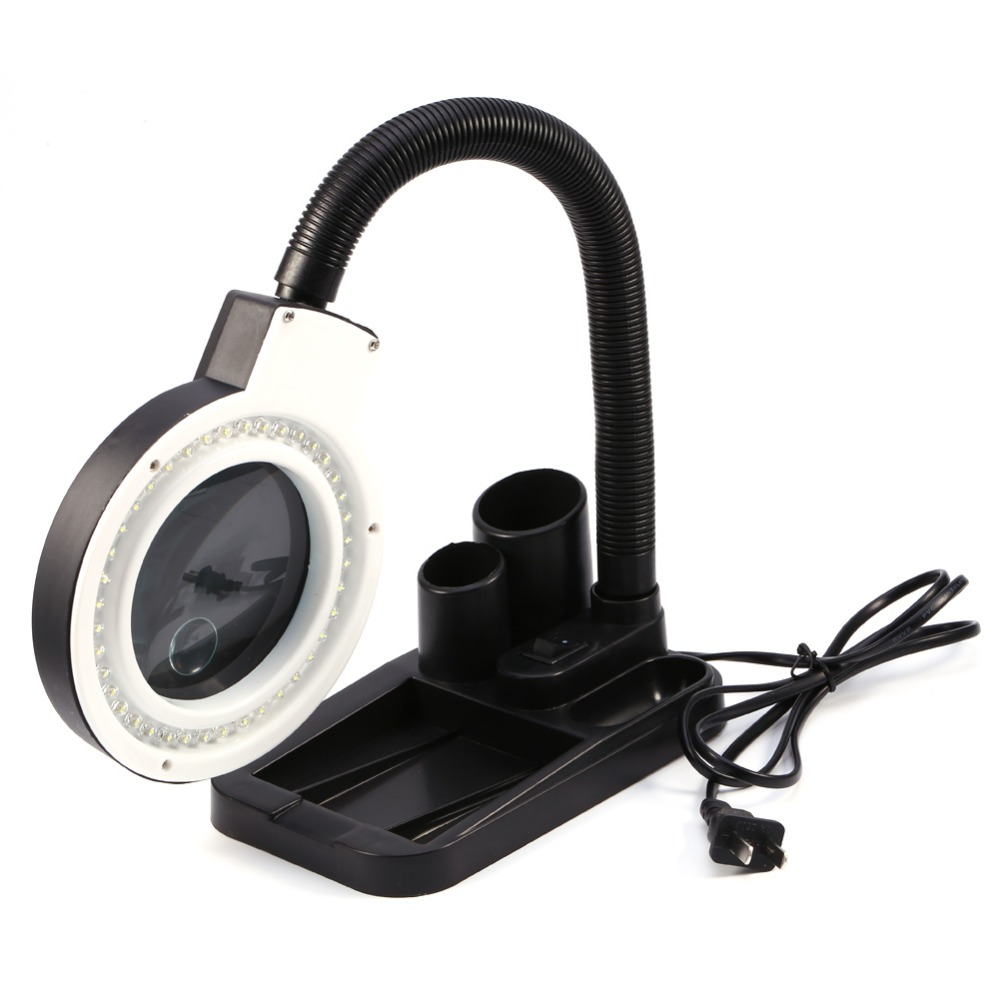 40 LED Light Magnifier Magnifying Glass with Light Lens Table Desk-type Lamp Handheld Foldable Loupe 5X 10X Portable big vision