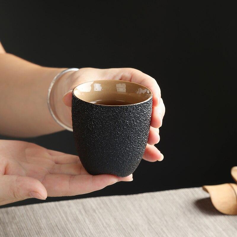 TANGPIN negro vajilla cerámica taza de porcelana taza de té hogar chino kung fu taza 150ml Dewtreetali para ix25 Hyundai creta accesorios soporte de taza decoración de la taza cubierta de agujero molduras interiores ABS cromo