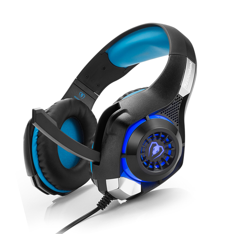 Gaming Headset Gamer for PS4 Tablet Laptop 3.5mm Headband Led Light PC Headphones fone de ouvido with Microphone+Adapter Cable each g8200 gaming headphone 7 1 surround usb vibration game headset headband earphone with mic led light for fone pc gamer ps4