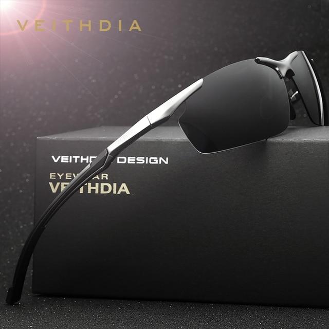 VEITHDIA Brand Men s Aluminum Magnesium Sun Glasses HD Polarized UV400 Sun  Glasses oculos Male Eyewear Sunglasses For Men 6592 fad04be5940