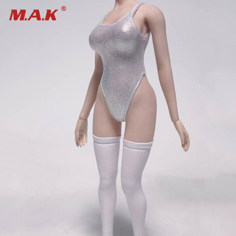 1//6 Black Swimsuit Underwear YoRHa 2B Gloves Stockings Fit 12/'/' Big Bust Figures