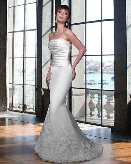 On Sale Strapless Mermaid Wedding Dress 2017 Cheap Vintage Long ...