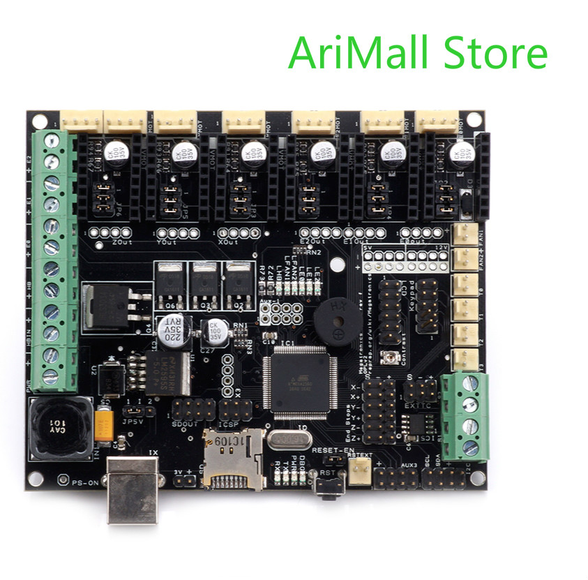 3D Printer Motherboard Megatronics V3 Control Board With Welding AD597 Chip