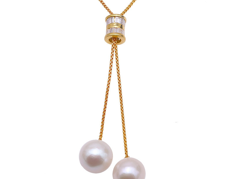 2019 Fashion Big Pearl Necklace Sterling Silver Chain 14mm White Round Freshwater Cultured Pearl Pendant Long Necklace 382019 Fashion Big Pearl Necklace Sterling Silver Chain 14mm White Round Freshwater Cultured Pearl Pendant Long Necklace 38