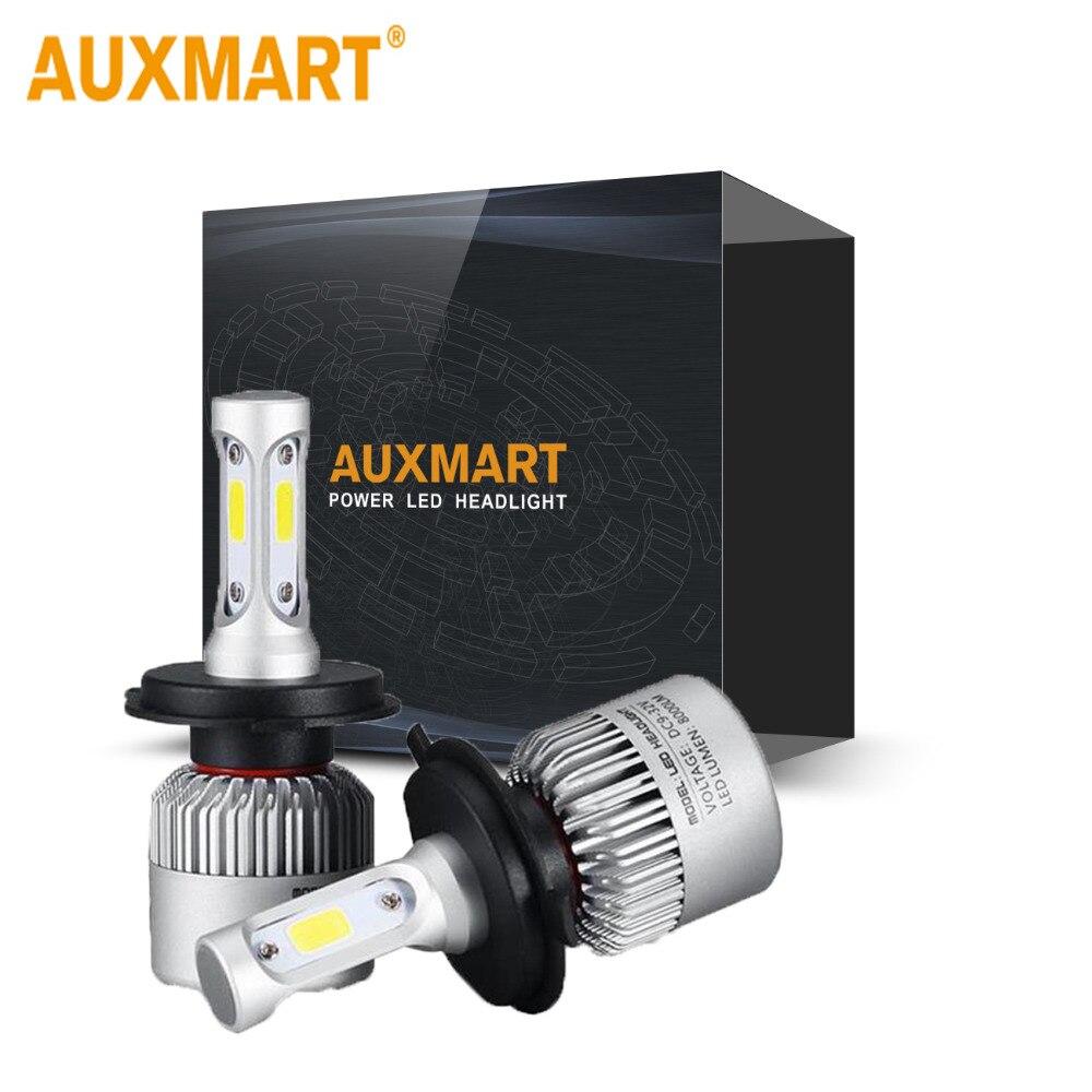 Auxmart S2 H4 H7 H13 H11 H1 9005 9006 H3 9004 9007 9012 COB LED Headlight 72W 8000LM Car LED Headlights Bulb Fog Light 12V 100% original e2 car lights h4 h13 9004 9007 h7 9005 hb3 9006 hb4 h11 h9 h1 h3 9012 auto led headlight bulb 8000lm 12v 6500k
