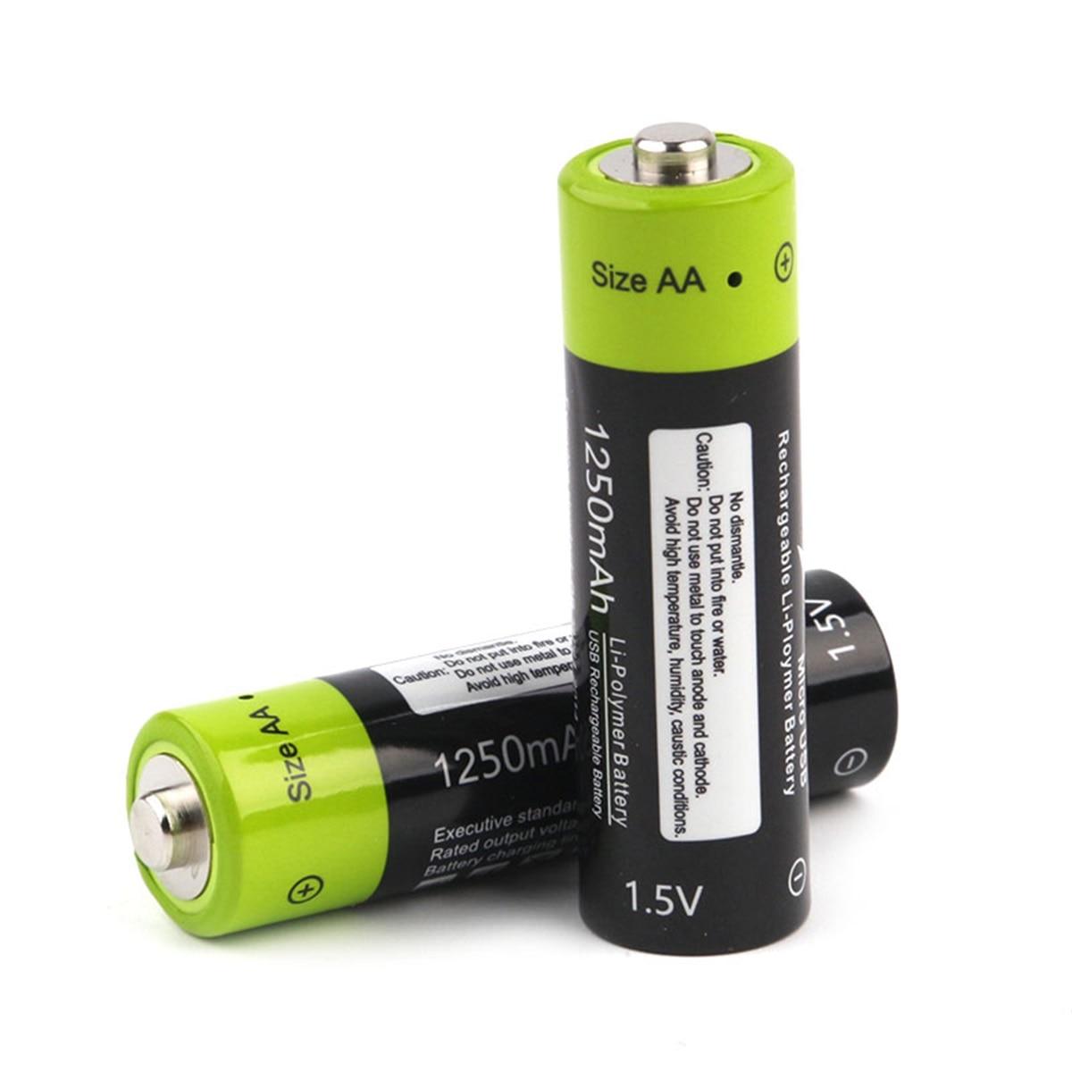 PKCELL 12 Stück AA 1.6V 2500mAh Ni-Zn Rechargeable Batteries Environmental