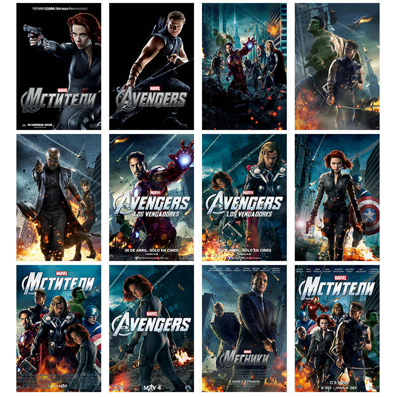 Marvel Moive Avengers Endgame Silk Posters Superhero Character Postre and Print Wall Art Decorative Pictures For Bed Room