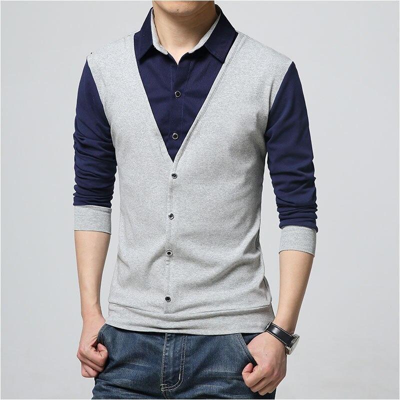 Men s Brand Polo Shirt Long Sleeves Casual  1