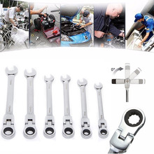 4/5/6/7/8/12pcs Activities Ratchet Gears Spanner Set For Car Repair Tool Flexible Open End Wrenches To Wrenche Torque Tools