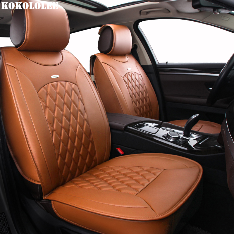 цена KOKOLOLEE Special pu Leather car seat covers For Dacia All Models Sandero Duster Logan pink auto accessories car-styling