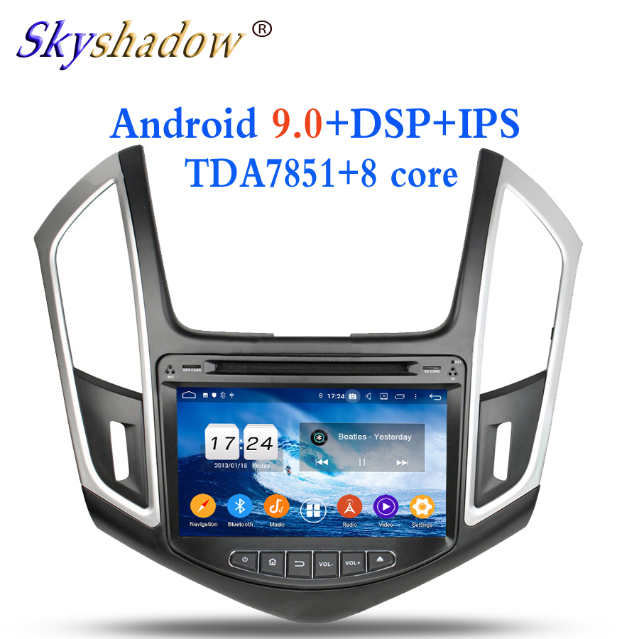 Best Android 9.0 4GB RAM 8 Core For Chevrolet CRUZE 2013 2014 2015 Car DVD Player Wifi BT 4.2 RDS RADIO GPS Glonass map DVR camera TV 0