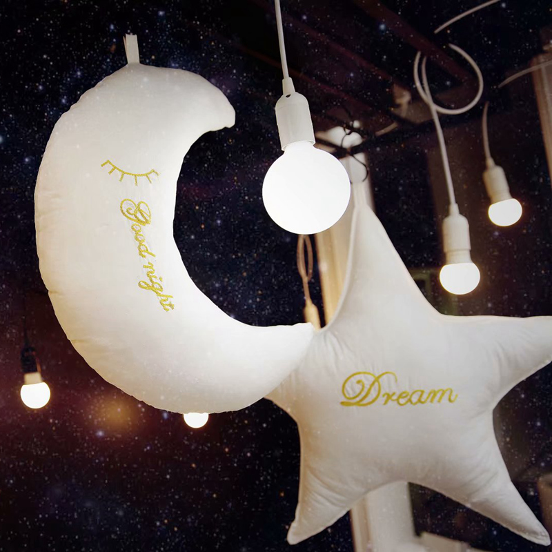 Cute Sky Series Pillow Moon Star Clouds Heart Plush Toys Soft Cushion Sofa Cushion Bed Decoration Kawaii Birthday Gift For Girl