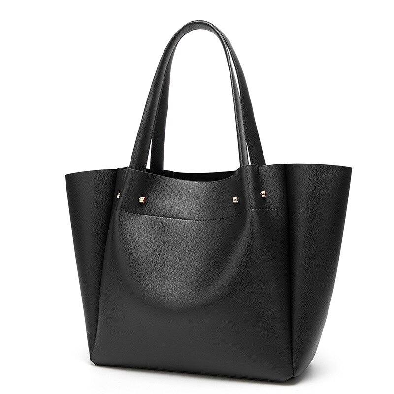 2018 nouveau sac à bandoulière femme Europe et amérique grande capacité dames sac rétro mode noir sac livraison gratuite