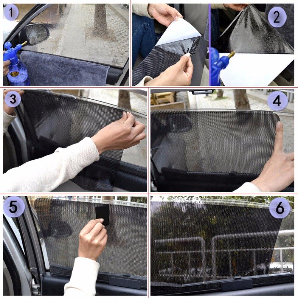 1 Para Auto Vorhang Windschutzscheibe Aufkleber Sonnenschutz UV