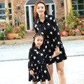 2016 семьи матч наряд РОДИТЕЛЬ-РЕБЕНОК наряды мать дочь девушка животное цельный платья shirtdress семья посмотрите maching