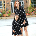 2016 family match outfit PARENT-CHILD outfits mother daughter girl pet one-piece dresses shirtdress family look maching