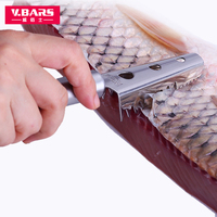 Wilbur Stainless Steel Scale Planer Practical Kill Fish Knife Creative Brush Fish Scale Scraper Kitchen Gadget