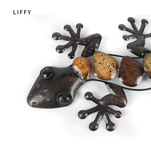 Image 5 - Home Decor Metal Gecko Wall for Garden Decoration Outdoor Statues Accessories Sculptures and Animales Jardin