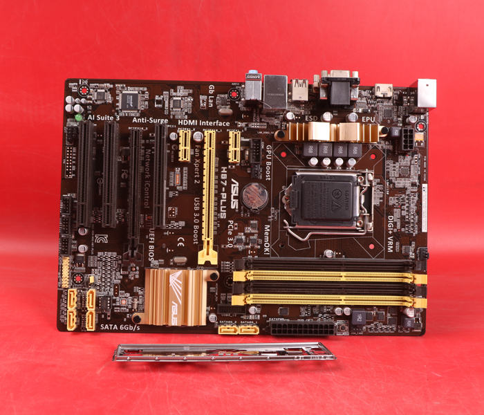 Used,Asus H87-PLUS Original Used Desktop Motherboard H87 Socket LGA 1150 i7 i5 i3 DDR3 32G SATA3 UBS3.0 ATX купить