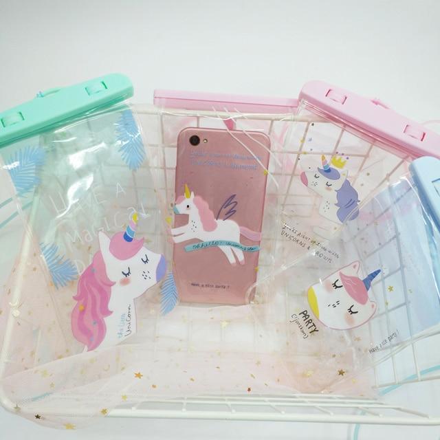 AEQUEEN Korean Flamingo Pouch Bag Women s Waterproof Cell Phone Case Clear  PVC Coin Purse Card Holder bc59a9763f