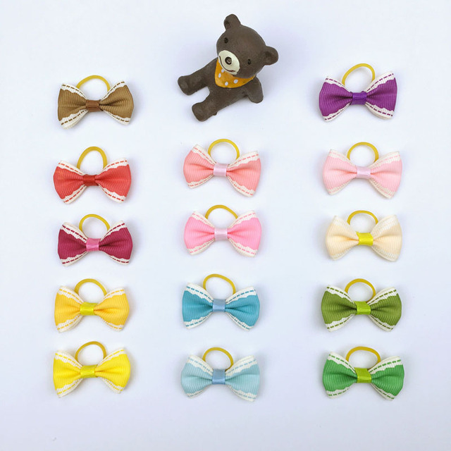 Amazing Hair Bows Bow Adorable Dog - 50-pieces-lot-Pet-Hair-Bows-With-Rubber-Band-Cute-Handmade-Ribbon-Small-Dogs-Cats  Snapshot_229743  .jpg