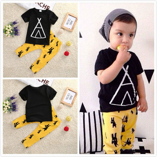 006b9fc0265 New kids cloth sets summer boy t-shirt+pants suit clothing set Clothes  newborn sport suits baby boy clothes boys clothes