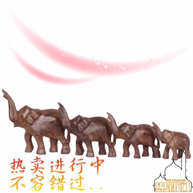 The elephant wood carving wood antique hand carved wooden ornaments Pakistan elephant