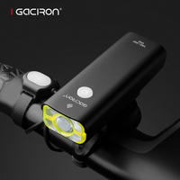 GACIRON Cycling Led Lights Usb Rechargeable Mini Bike Light Front Handlebar IPX3 WaterProof Battery 18650 Bicycle