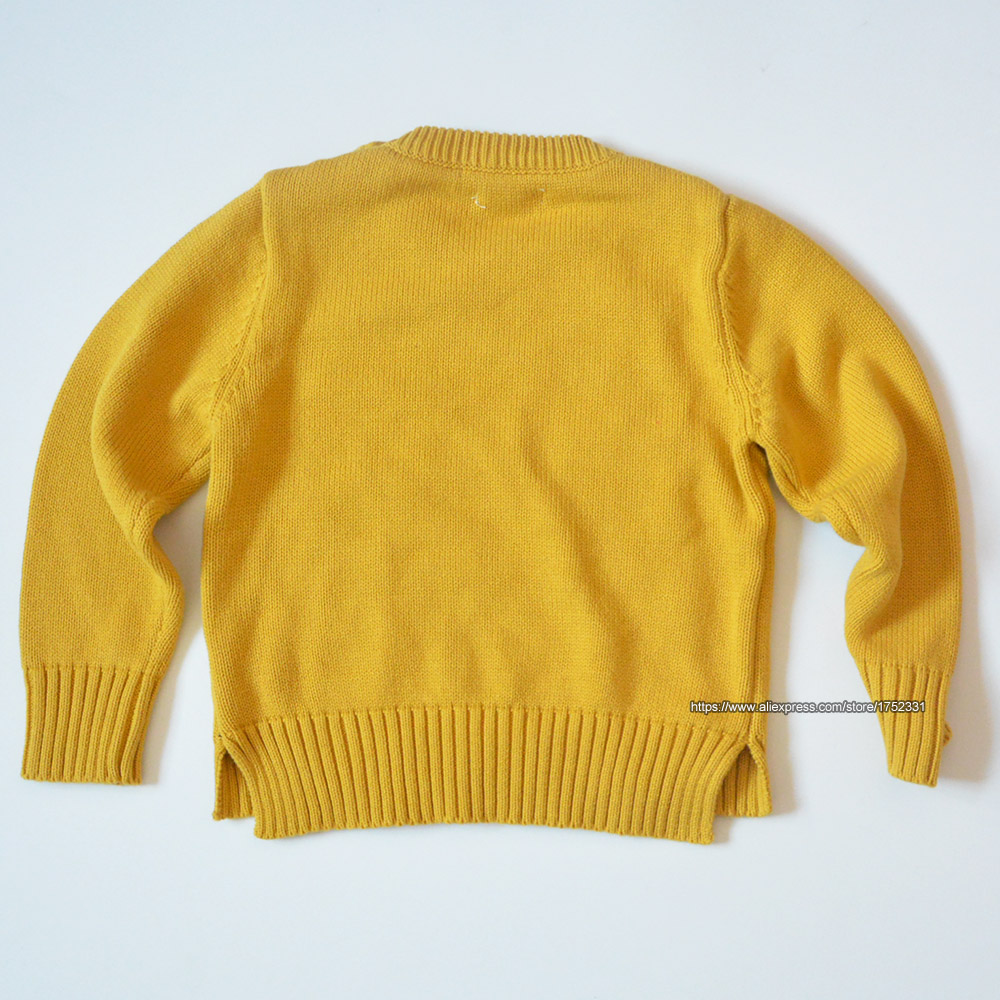 QUIKGROW-Thick-Warm-Baby-Boy-Girl-Sweater-Stylish-Yellow-Long-Sleeve-Cute-Puppy-Dogs-Paws-Pullover-Jumpers-Knitwear-YM07MY-3