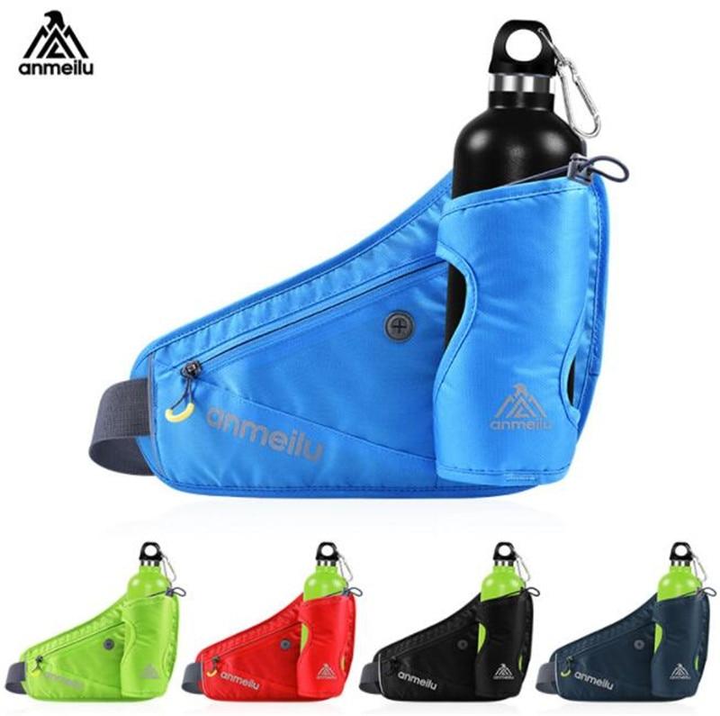 ANMEILU Men Women Running Waist Pack Hydration Belt For 710ml Water Bottles Hip Pouch For Marathon Running Hiking Cycling