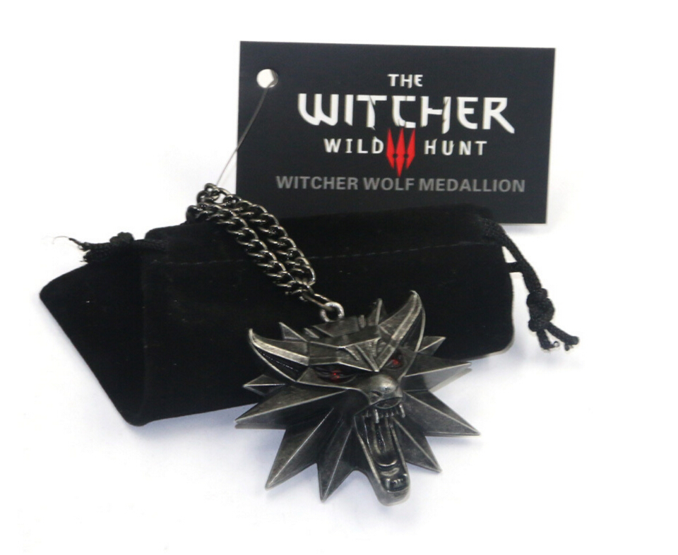 Vintage Wolf Head the witcher 3 wild hunt Figure Game Wizard witcher 3 Medallion Cosplay For Costume Accessories