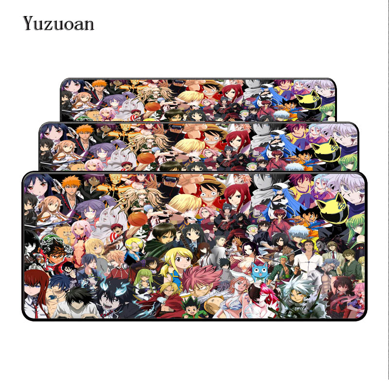 Yuzuoan 900*400*3MM Dragon Ball One Piece All Anime Customized Large Lock Edge Mouse Pad Computer Notebook Non-Slip Desk Cup Mat ...