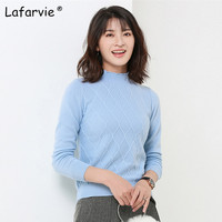 Lafarvie Women Cashmere Sweaters And Pullovers Autumn Turtleneck Long Sleeve Pullovers 16 Colors Women Casual Knitting