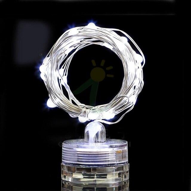 2M 20 Led Lumière De Noël Lumière de Ficelle De Fil De Cuivre Imperméable floral Vase Bouteille Étoilé Ruban Décoration de Jardin À la Maison