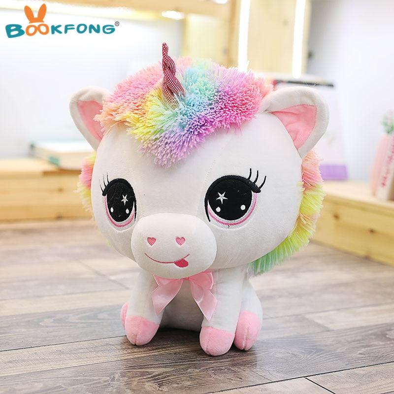 35 cm Cute Unicorn Plüschtier Regenbogen-pferd Sutffed Tier Plüsch Puppen Kinder Baby Geburtstag Weihnachtsgeschenke
