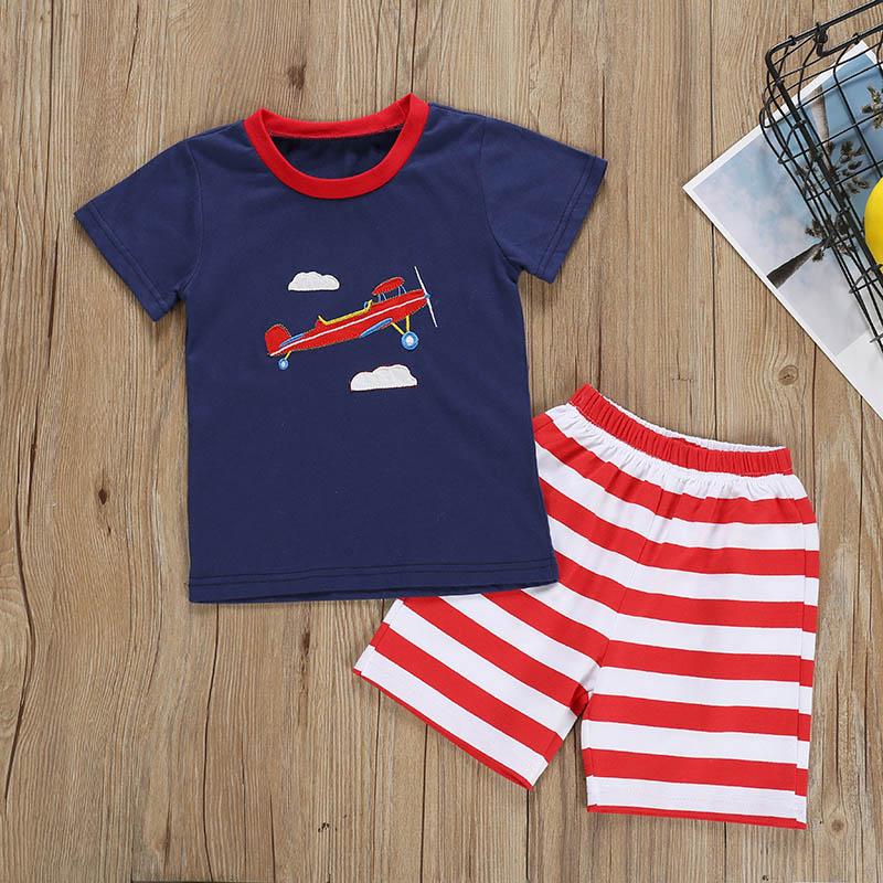 2pcs Baby Jungen Kleidung Outfit Kleinkind Kinder Hemd Pullover Top Hose Satz