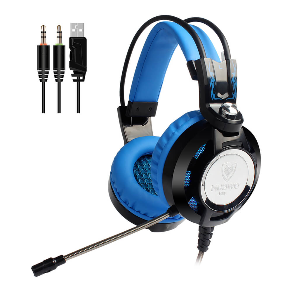 New Nubwo K6 Ear Gaming Headphone with Microphone LED Lighting for PC for PS3/PS4/Xbox one/Xbox 360 Stereo Over Game Headphone