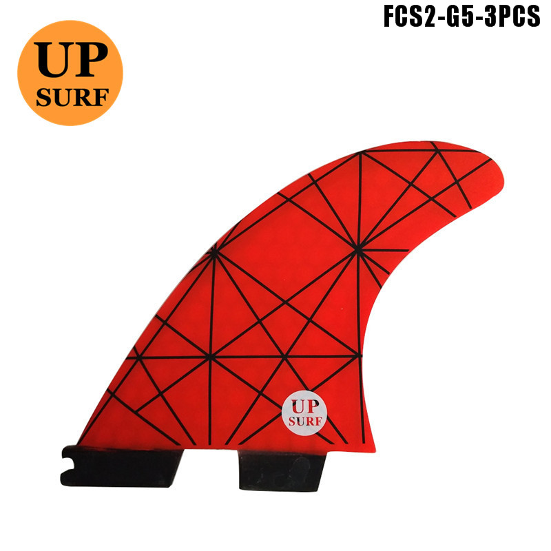 FCS2 Fins Yellow G5 Surfboard FCSII Fins Specifical Design Fins For Sale Free shipping in Surfing from Sports Entertainment