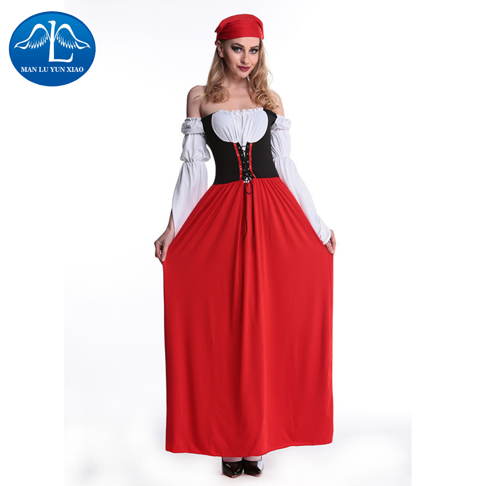 MANLUYUNXIAO Women Long Dress Halloween Costume For Girls Role Play Cosplay Performance Dance Show Halloween Costumes For Woman