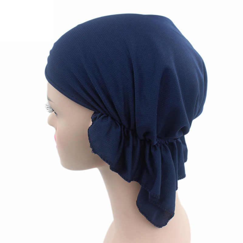 Kadınlar Nefes Kemoterapi Şapkalar Elastik islami türban ŞAPKA Uyku Şapka duş boneleri Saç Kapağı Yumuşak Esnek F0246