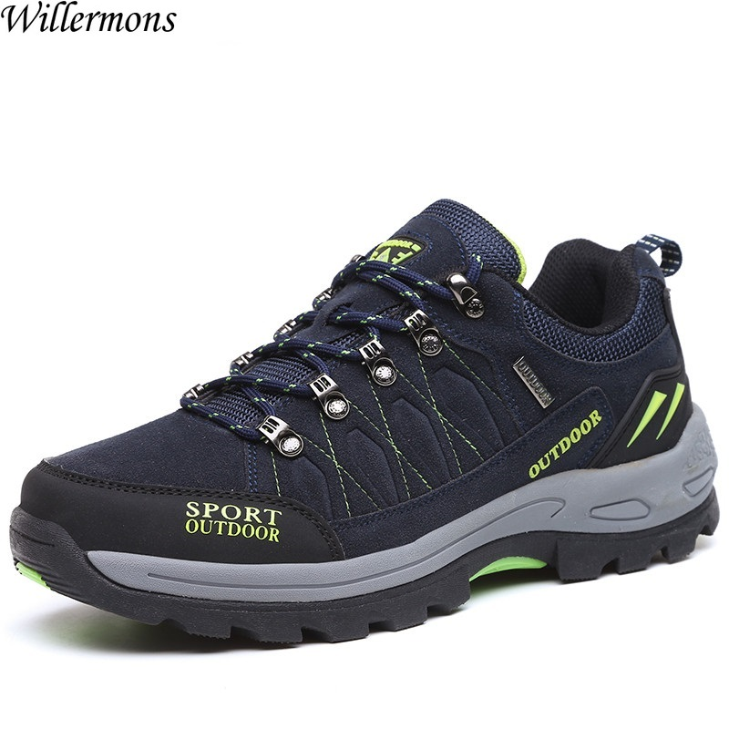 New Arrival Big Size Men's HIking Shoes Male Outdoor Antiskid Breathable Trekking Hunting Tourism Mountain Sneakers new arrival mountain